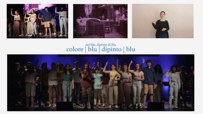 bologna,-studenti-cantano-'nel-blu-dipinto-di-blu'-nella-lingua-dei-segni