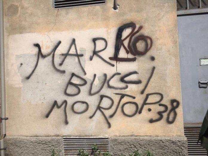 minacce-di-morte-a-salvini,-meloni-e-bucci-sui-muri-del-quartiere-genovese-di-oregina