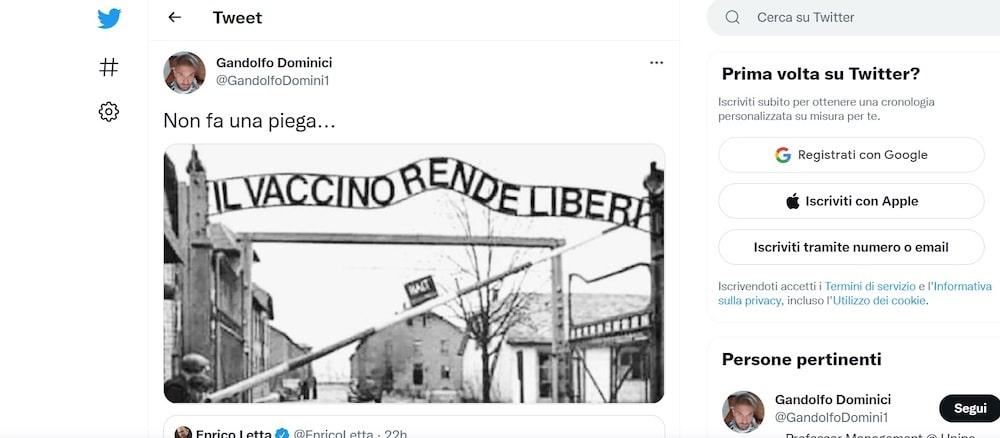 """""""il-vaccino-rende-liberi"""",-ma-nel-post-c'e-la-foto-di-auschwitz:-bufera-sul-tweet-di-un-professore-di-palermo"""